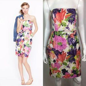 J. Crew Silk Ella Garden Floral Sheath Dress